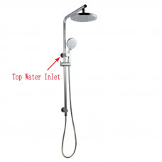 Right Angle Round Chrome Shower Station Top Inlet