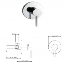 Round Chrome Twin Shower Station Top Water Inlet