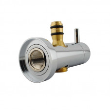 Round Chrome Top Water Inlet Shower Rail With Diverter