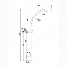 Round Chrome Shower Station Top Inlet