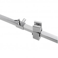 Square Chrome Thermostatic Sliding Shower Rail Bottom Water Inlet