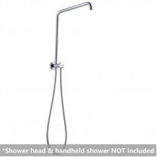 300mm Height Round Chrome Top Water Inlet Shower Rail