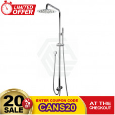 8 inch Round Chrome Shower Station Top/Bottom Water Inlet with Brass Handheld Shower