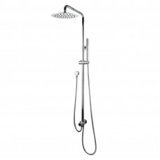 8 inch Round Chrome Shower Station Top/Bottom Water Inlet with Brass H..