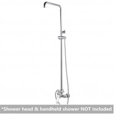 8 inch Round Chrome Bottom Water Inlet Shower Rail With Mixer