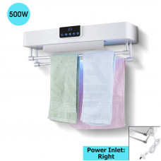 Bathroom White Intelligent Timer UV Sterilizer Heated Towel Dryer Towe..
