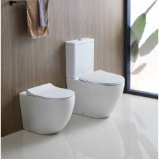 620x380x825mm Ceramic White Boxrim Back To Wall Toilets Suite Two Piece Toilets