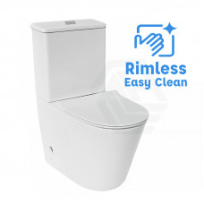 642x380x850mm Bathroom Rimless Back To Wall White Ceramic Toilet Suite
