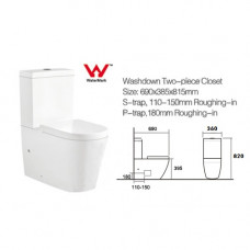 690x360x820mm Ceramic White Box Back To Wall Toilets Suite Two Piece Toilets with P/S trap