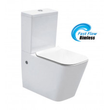 630x360x810mm Rimless Two-piece White Color Toilets with Soft Closed Toilets Seat Cover with P/S Trap
