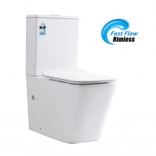 690x385x815mm Rimless Two-piece White Color Toilets with Soft Closed T..