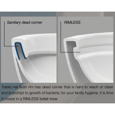 630x360x810mm Rimless Two-piece White Color Toilets with Soft Closed T..
