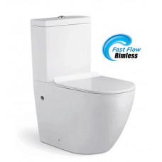 690x370x830mm Ceramic White Box Rimless Back To Wall Toilets Suite Two..
