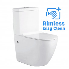 690x370x830mm Ceramic White Box Rimless Back To Wall Toilets Suite Two Piece Toilets