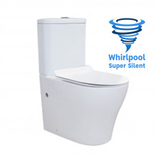 665x360x840mm Whirlpool Silent High End Back To Wall Ceramic Toilet Suite