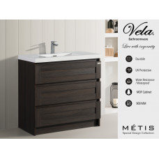 900x830x460mm Floor Standing 3 Drawers Vanity