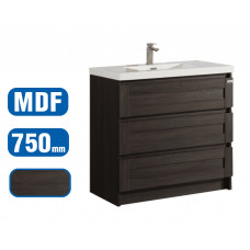 750x500x850mm Floor Standing 3 Drawers Vanity