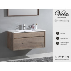 1200x600x460mm Wall Hung Single Drawer Vanity