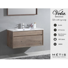600x460x460mm Wall Hung Single Drawer Vanity