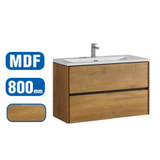 800x600x460mm Wall Hung 2 Drawer Bathroom Vanity