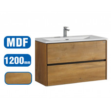 1200x600x460mm Wall Hung 2 Drawer Bathroom Vanity