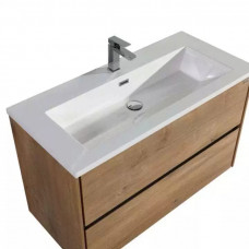 1000x600x460mm Wall Hung 2 Drawer Bathroom Vanity