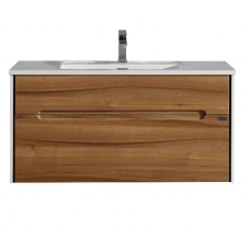 800x500x500mm Wall Hung Single Drawer Vanity