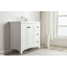 900x460x857mm Floor Standing 3 Drawers and 2 Doors Vanity