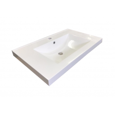 750mm Thick Polymarble Basin Vanity Top Only