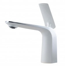 Norico Eden Chrome and White Bathroom Basin Mixer Tapware