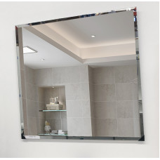 750 x 750mm Bathroom Mirror Bevelled Edge Wall Mounted