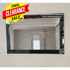 900 x 750mm Bathroom Mirror With Black Mirror Frame Bevelled Edge Wall..