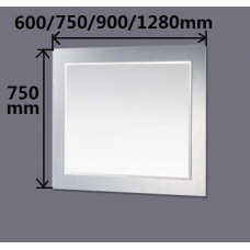 750 x 750mm Bathroom Mirror With Black Mirror Frame Bevelled Edge Wall..
