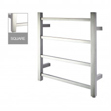 520Hx500Wx120D mm Chrome Square Electric Heated Towel Rack 4 Bars