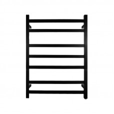 800Hx600Wx120D mm Square Matte Black Electric Heated Towel Rack 7Bars