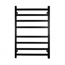 912x620x120m Nero Black Electric Heated Towel Rack 8 Bars